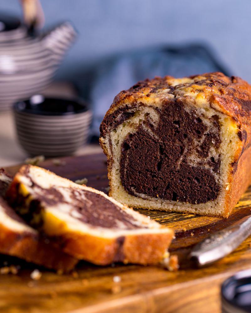 עוגה בחושה שיש וניל-שוקולד