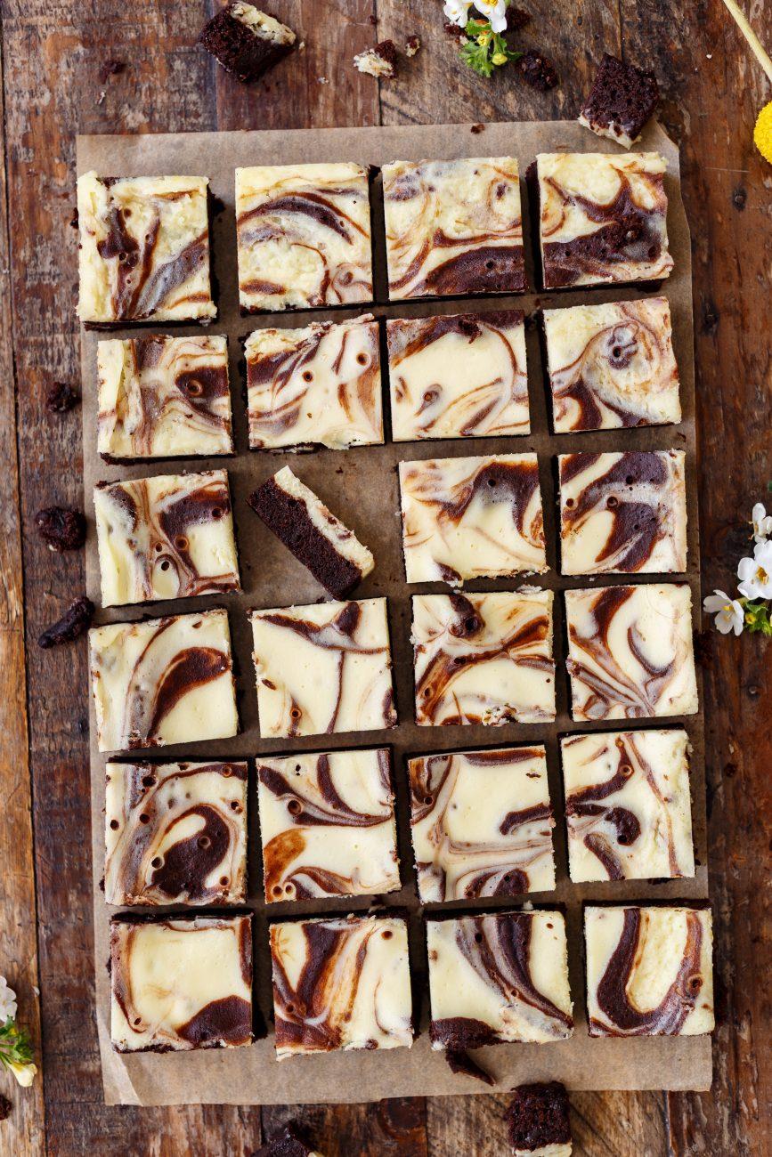 בראוניז שיש שוקולד – גבינה