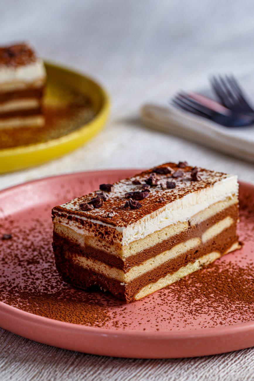 עוגת ביסקוויטים שוקולד וניל